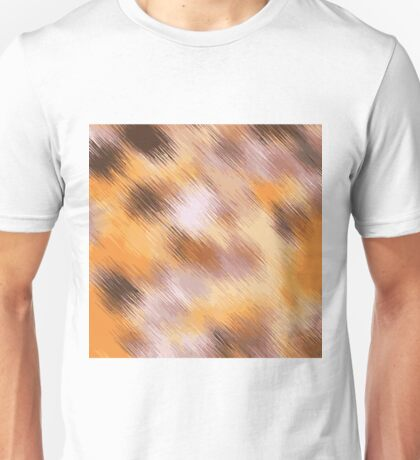 brown orange and black painting texture Unisex T-Shirt
