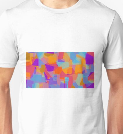 orange red blue and purple abstract background Unisex T-Shirt