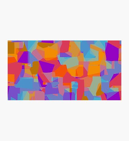 orange red blue and purple abstract background Photographic Print