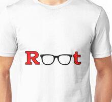 "Root ""Glasses Red"" Unisex T-Shirt"