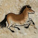 Cave Art Horse - Cheval No.2 by Jan Szymczuk