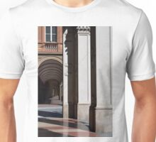 Portico in Bologna with classical columns Unisex T-Shirt