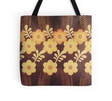 Retro Blumen Design in coolen Sommer fraben (vintage style) Tote Bag