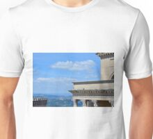 Detail of classical buildings in San Marino Unisex T-Shirt