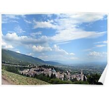 Aerial view of Assisi, Italy Poster