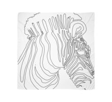 Zebra Head Artwork Scarf