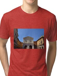Classical buildings in a public square in Pisa, Italy Tri-blend T-Shirt