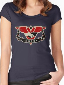 1984 INGSOC Emblem Women's Fitted Scoop T-Shirt