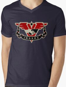 1984 INGSOC Emblem Mens V-Neck T-Shirt
