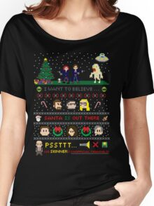 The X-Files Christmas - Santa is Out There Women's Relaxed Fit T-Shirt