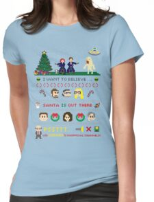 The X-Files Christmas - Santa is Out There Womens Fitted T-Shirt