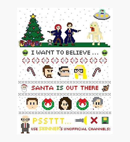 The X-Files Christmas - Santa is Out There Photographic Print