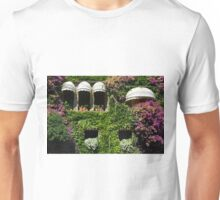 Facade covered in colorful vegetation Unisex T-Shirt