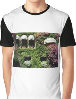 Facade covered in colorful vegetation Graphic T-Shirt