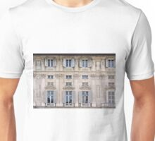 Classical details on a building facade from Genova, Italy Unisex T-Shirt