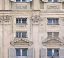 Classical details on a building facade from Genova, Italy Sticker