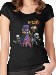 witch coc Women's Fitted Scoop T-Shirt