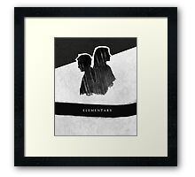 Elementary Profile Shadow Poster Framed Print