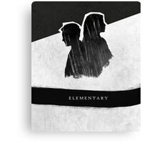 Elementary Profile Shadow Poster Canvas Print