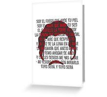 TUYO - Soy el fuego  Greeting Card