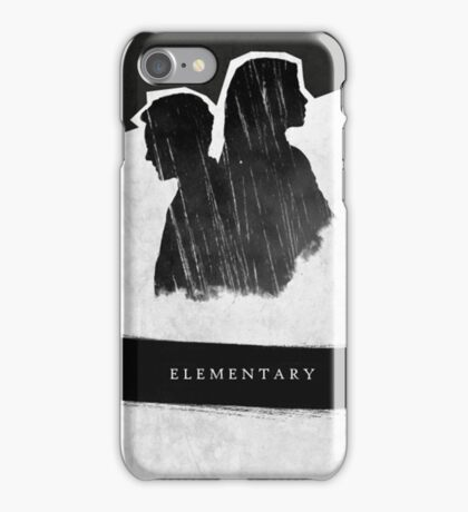 Elementary Profile Shadow Poster iPhone Case/Skin