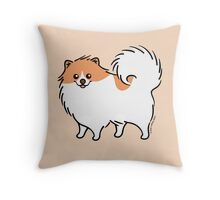 Cute Pomeranian Puppy Dog Throw Pillow
