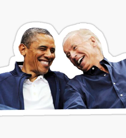 obama biden bff Sticker