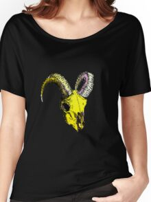 Decay Hath Such Grace - Ram Skull - YELLOW Women's Relaxed Fit T-Shirt
