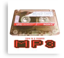 MP3 Canvas Print