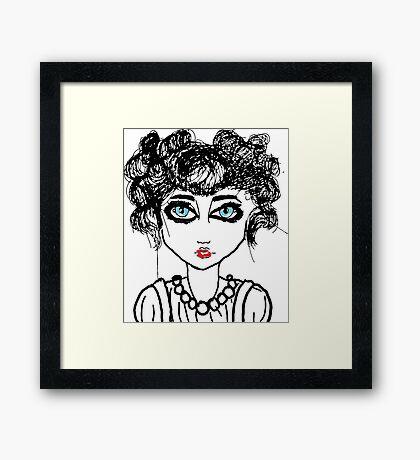 Girl with Blue eyes Framed Print
