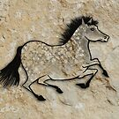 Cave Art Horse - Speckled Grey by Jan Szymczuk