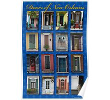 Doors of New Orleans Poster