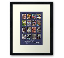 Portobello Market (Purple) Framed Print