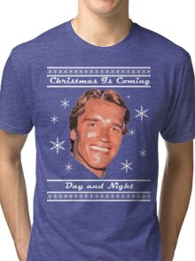 Christmas Is Coming, Day and Night Tri-blend T-Shirt