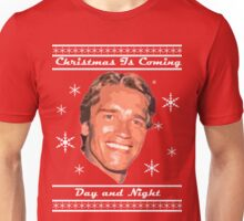 Christmas Is Coming, Day and Night Unisex T-Shirt