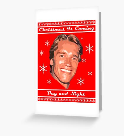 Christmas Is Coming, Day and Night Greeting Card