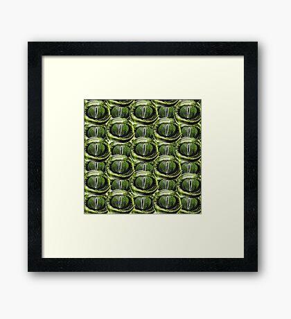 reptile eye Framed Print