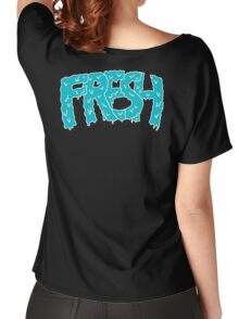 fresh blue on black Women's Relaxed Fit T-Shirt