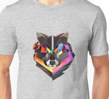 COLORED WOLF (abel in all colored) Unisex T-Shirt