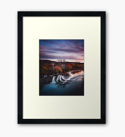 From across the pond Framed Print