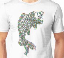 Colorful Koi Fish Jumping Unisex T-Shirt