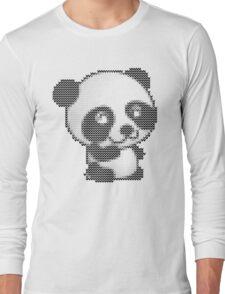 knitted sweater panda Long Sleeve T-Shirt
