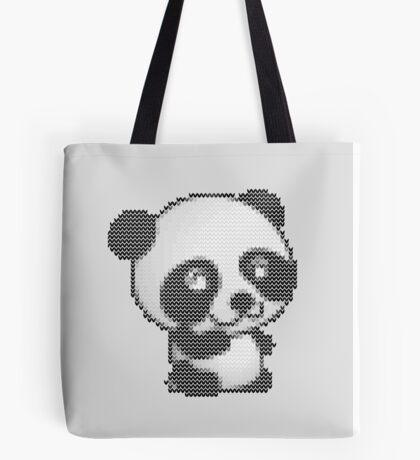 knitted sweater panda Tote Bag