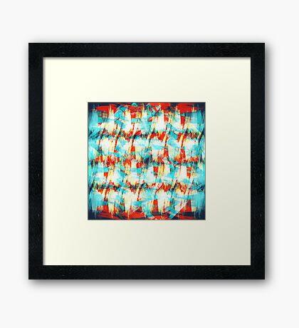 Brush Stroke Rainbow Hatch Framed Print
