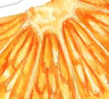 slice of orange Sticker