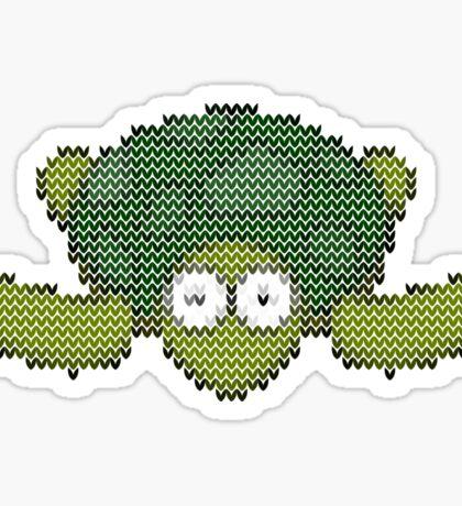 knit turtle Sticker