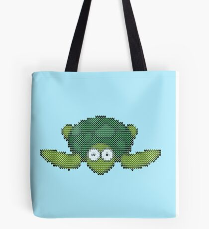 knit turtle Tote Bag