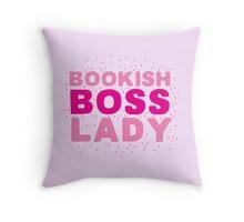Bookish boss lady Throw Pillow