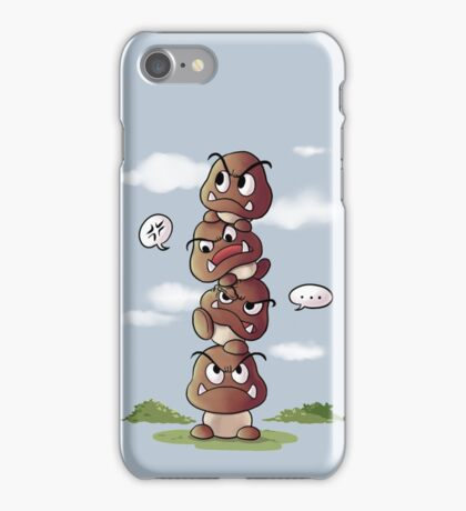 Goomba tower iPhone Case/Skin