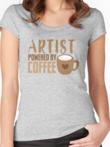 ARTIST powered by coffee Women's Fitted Scoop T-Shirt